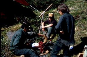 Felix Johnny (left) caping Chris Widrigs (right) first ram, August 1974