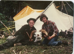 """Chris on right with 41"""" ram 1980."""