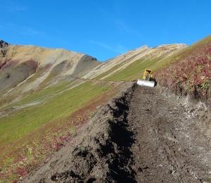 Mining exploration at work in the Yukon, destroying wilderness habitat.