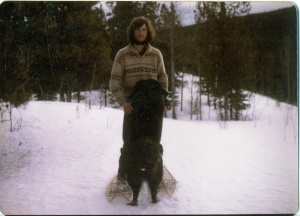 Looking like a wild man. Late winter 1979.